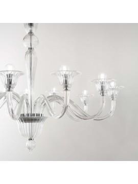 Contemporary crystal chandelier 8 ideal-lux lights Brigitta sp8 transparent