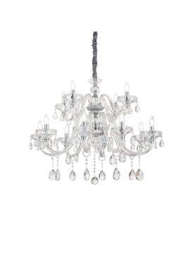 Classic crystal chandelier 12 lights ideal-lux Continental sp12