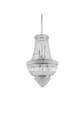 Lampadario classico con cristalli a 10 luci ideal-lux Dubai sp10 cromo
