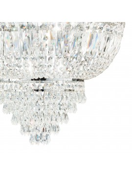 Classic ceiling light with 6 lights ideal-lux crystals Dubai pl6 chrome