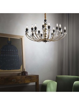 Classic gold chandelier with 15 ideal light ideal lights Vanity sp15