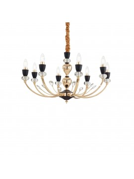 Classic gold chandelier with 8 ideal light ideal lights Vanity sp8