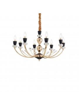 Lampadario classico oro con cristalli 8 luci ideal-lux Vanity sp8