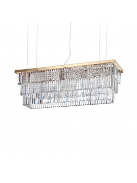 Contemporary chandelier with crystals 8 lights ideal-lux Martinez sp8 gold