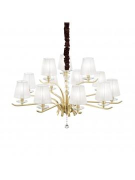 Lampadario contemporaneo oro 12 luci ideal-lux Pegaso sp12 ottone satinato