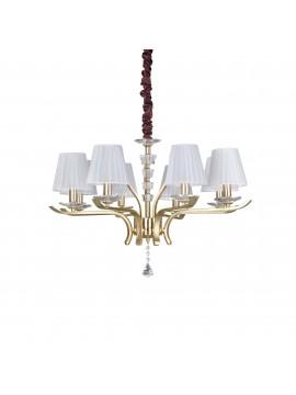 Lampadario contemporaneo oro 8 luci ideal-lux Pegaso sp8 ottone satinato