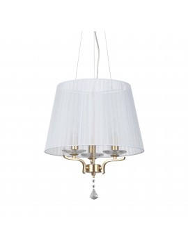 Gold contemporary chandelier 3 lights ideal-lux Pegaso sp3 satin brass