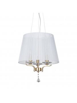 Lampadario contemporaneo oro 3 luci ideal-lux Pegaso sp3 ottone satinato