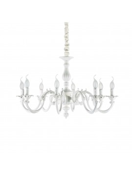 Classic white 8-light Justine sp8 ideal chandelier