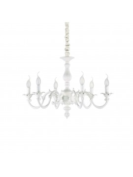 Classic white 6-light Justine sp6 ideal chandelier