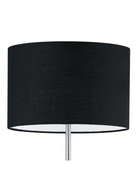 Floor lamp in black fabric 1 light trio 401100102 Hotel