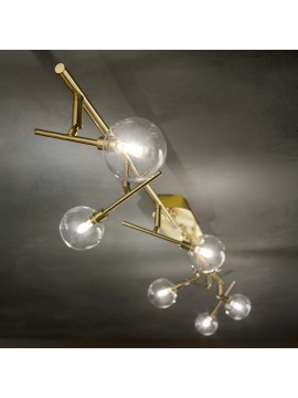 Plafoniera classica led snodabile spot a 6 luci ideal-lux Maracas pl6