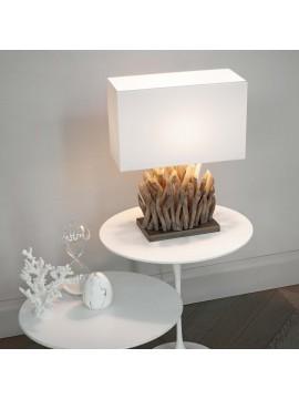 Lampada da tavolo moderna in legno naturale classico ideal-lux Snell tl1 big