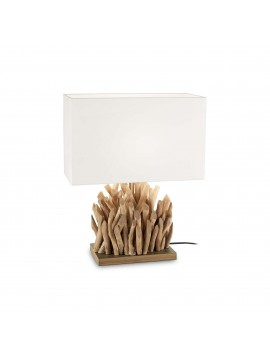 Modern table lamp in classic natural wood ideal-lux Snell tl1 big