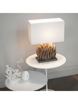 Modern table lamp in classic natural wood ideal-lux Snell tl1 small