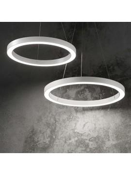 Lampadario a led moderno circolare 25w ideal-lux Oracle sp1 d.50cm bianco