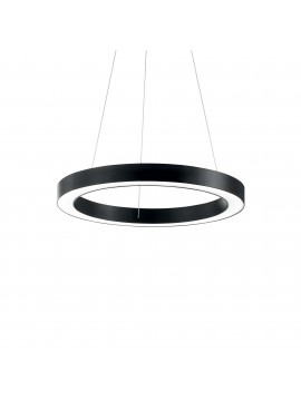 Lampadario a led moderno circolare 25w ideal-lux Oracle sp1 d.50cm nero