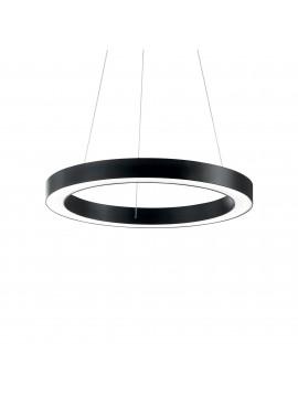 Lampadario a led moderno circolare 31w ideal-lux Oracle sp1 d.60cm nero