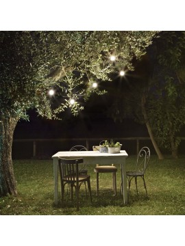 Outdoor garden lights with 5 cable e27 ideal-lux Fiesta white lamps