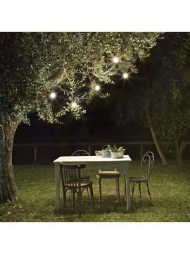 Luci da giardino per esterno cavo con 5 lampade e27 ideal-lux Fiesta bianco
