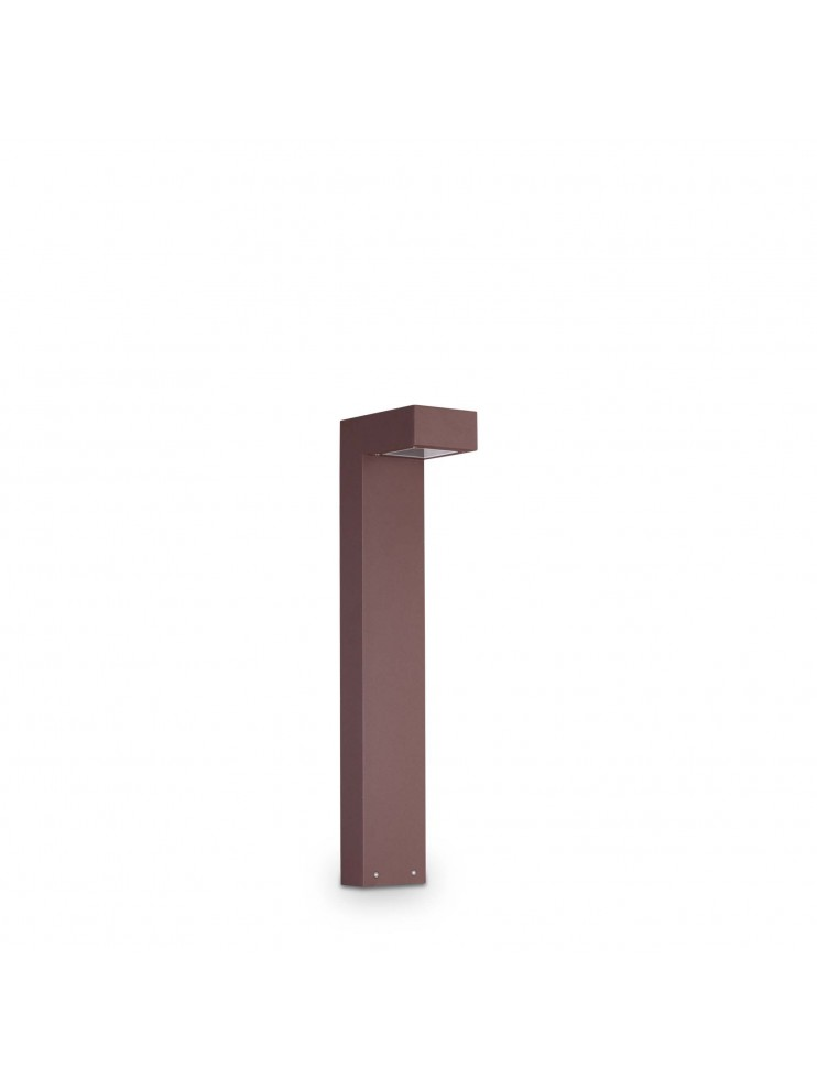 Modern outdoor bollard with 2 lights ideal-lux Sirio pt2 small coffee