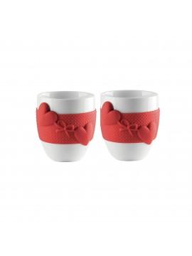 Set 2 guzzini coffee cups love 11490055 red