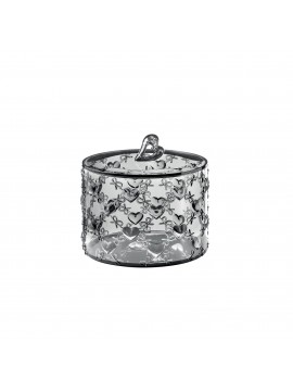 Small container with lid guzzini love 11520092 gray