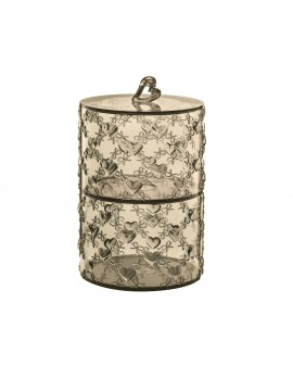 Set 2 stackable containers guzzini love 11520139 sand
