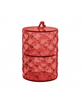 Set 2 stackable containers guzzini love 11520165 red