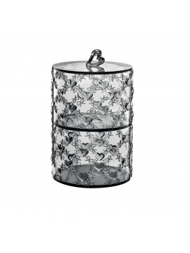 Set 2 stackable containers guzzini love 11520192 gray