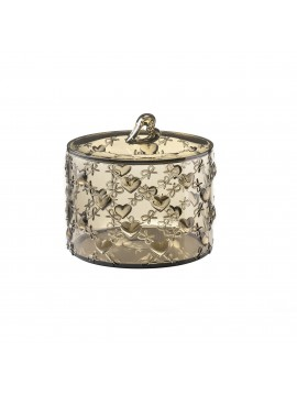 Large container with lid guzzini love 11530039 sand