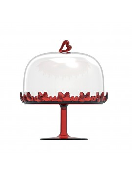 Big stand with bell guzzini love 11550165 red