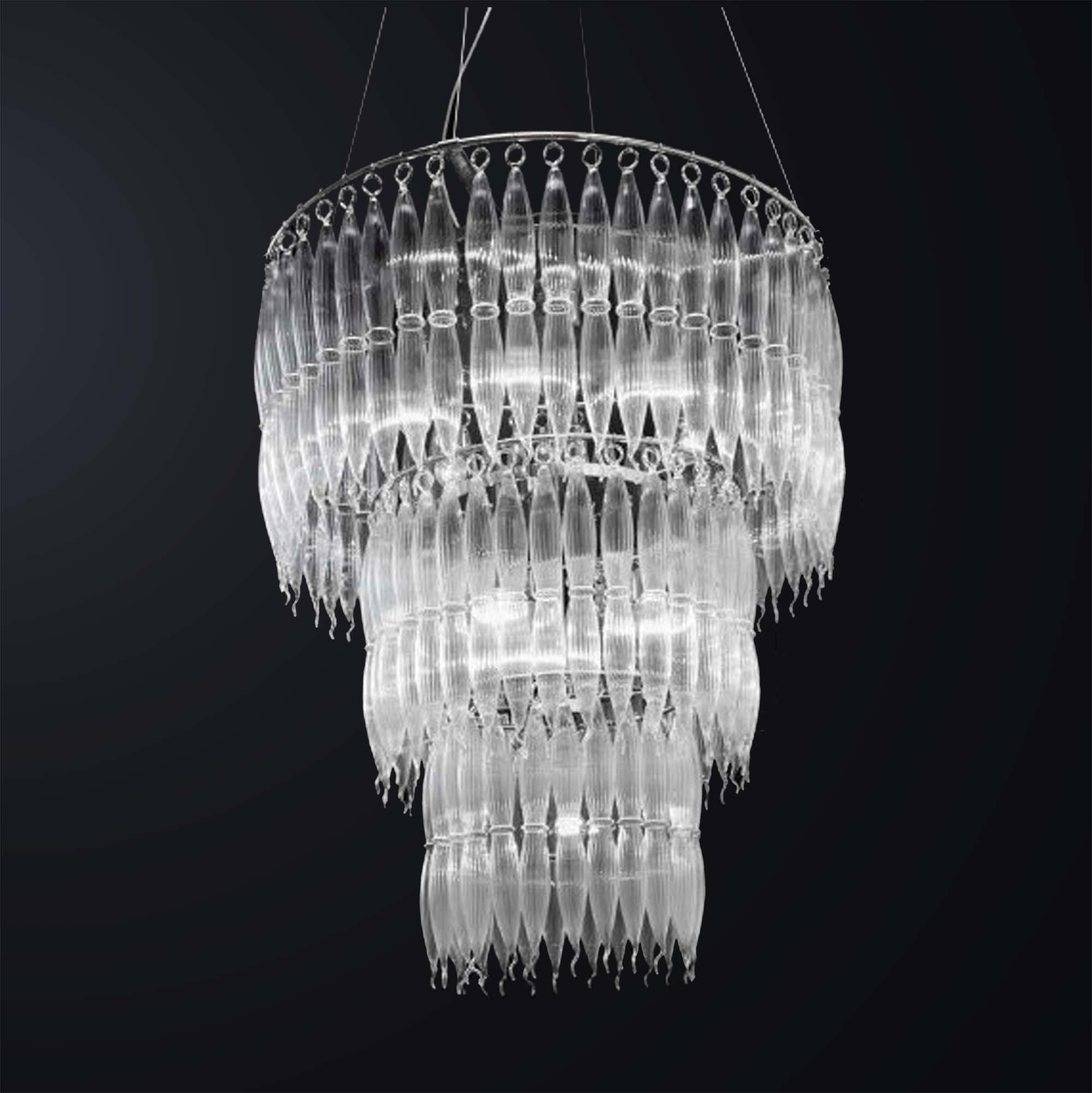 Modern Murano Glass Design Chandelier 8 Lights Bga 3057 S90