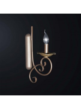 Classic wall lamp in brown and gold wrought iron 1 light BGA 3065-ap1