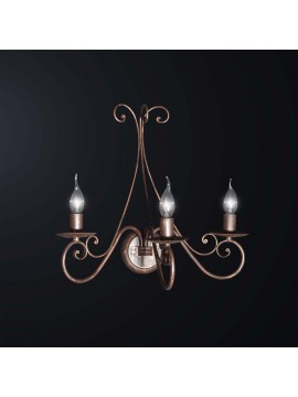 Rustic classic wrought iron wall light 3 lights BGA 3075-a3