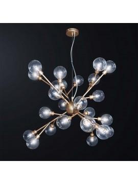 Modern minimal chandelier gold sphere glass 24 lights BGA 3076-s24
