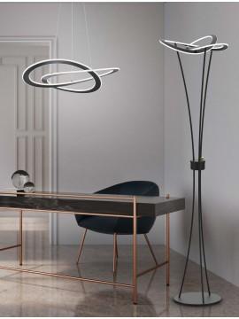 Modern design chandelier anthracite trio 321710142 Oakland