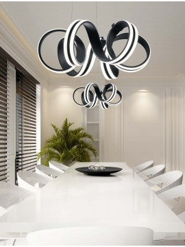 Modern design black led trio ceiling light 625010132 Carrera
