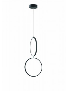 Modern design black trio led chandelier 322610232 Rondo