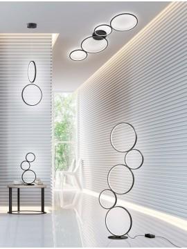 Modern design black led trio ceiling light 622610432 Rondo