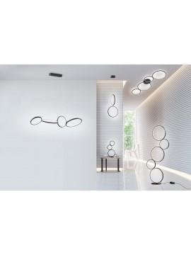 Lampada da tavolo a led moderna design nero trio 522610332 Rondo