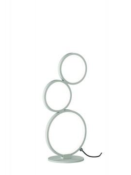 Lampada da tavolo a led moderna design bianco trio 522610331 Rondo