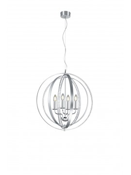 Modern chandelier with rhinestones 4 lights chrome design trio 102000405 Candle