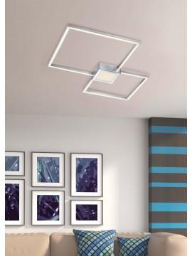Modern led square ceiling lamp design nickel trio 676210307 Hydra
