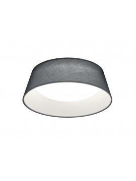 Plafoniera moderna a led in tessuto grigio trio R62871211 Ponts
