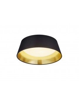 Modern led ceiling lamp in black trio fabric R62871279 Ponts