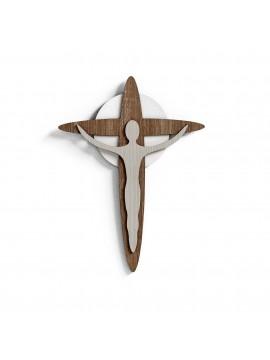 Modern stylized wooden laser design wall crucifix 30x40 CR610