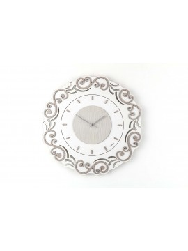 Modern wall clock D.50 cm laser cut wood M627 rc