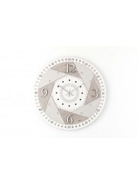 Orologio da parete moderno D.50 cm legno taglio laser M631 rc