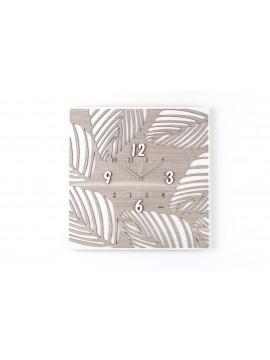 Modern wall clock D.50 cm laser cut wood M637 rc